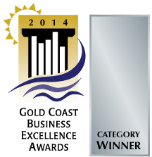Gold Coast Business Excellence Award logo 2014