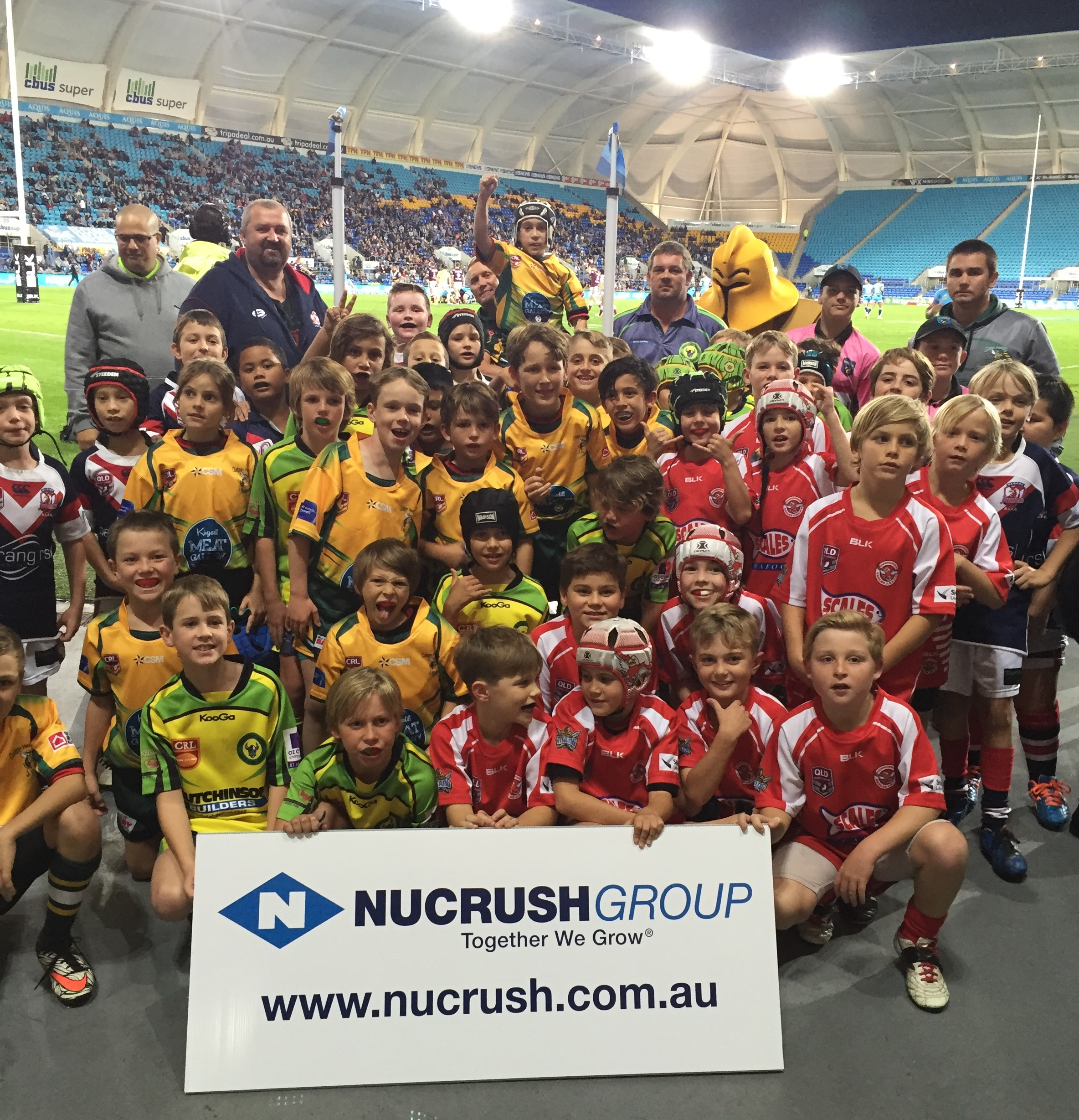 Nucrush half time mini league photo